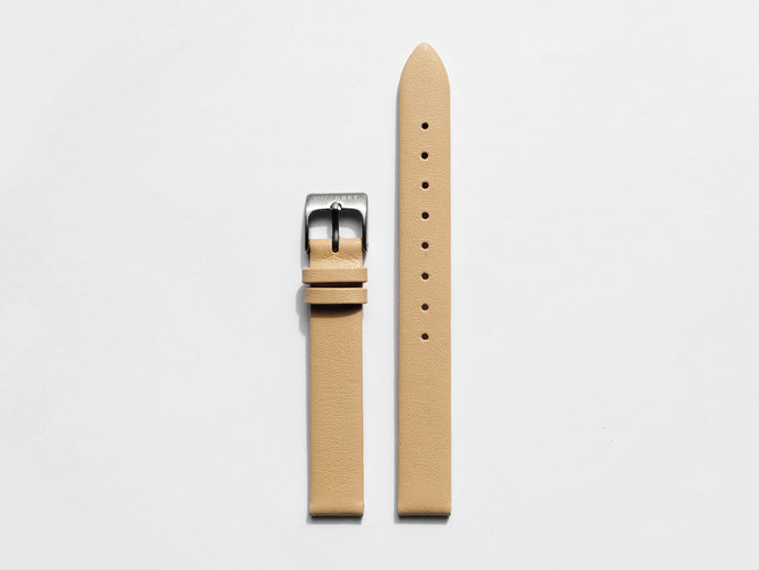 MG003 Mini Leather Watch Strap | Camel x Grey