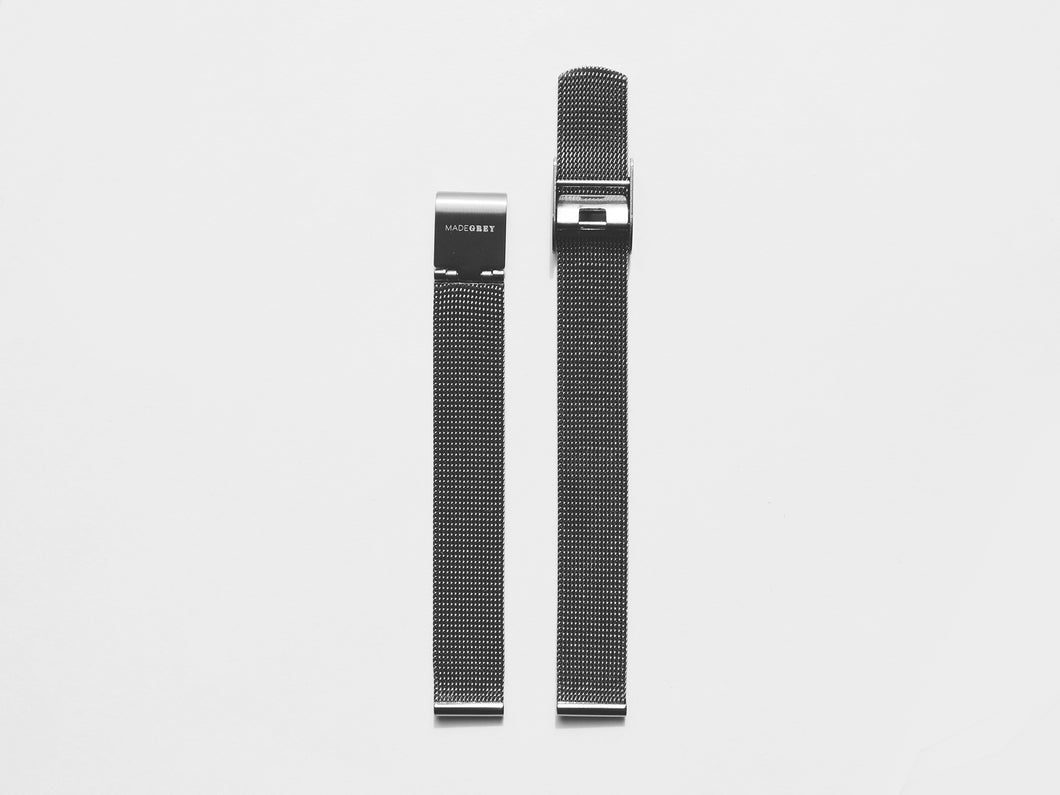 MG003 Mini Steel Mesh Watch Strap | Grey