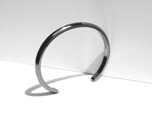 NEW COLOR! Wide Bevel Cuff Bracelet | Grey Stainless Steel