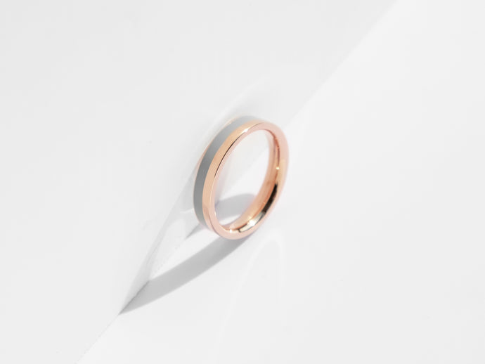 Fusion Ring | Rose Gold x Grey