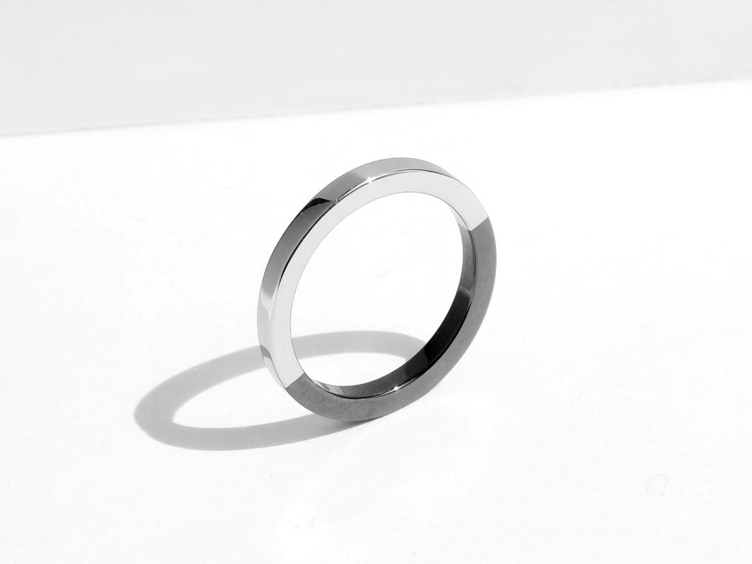 NEW! Two-Tone Minimal Ring | Polished Grey