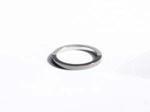 Two-Tone Minimal Ring | Polished Grey