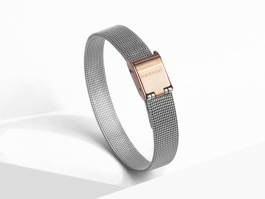 SILVER MG001 WATCH | MESH BAND