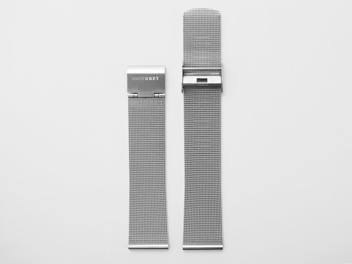 MG001 Steel Mesh Watch Strap | Silver
