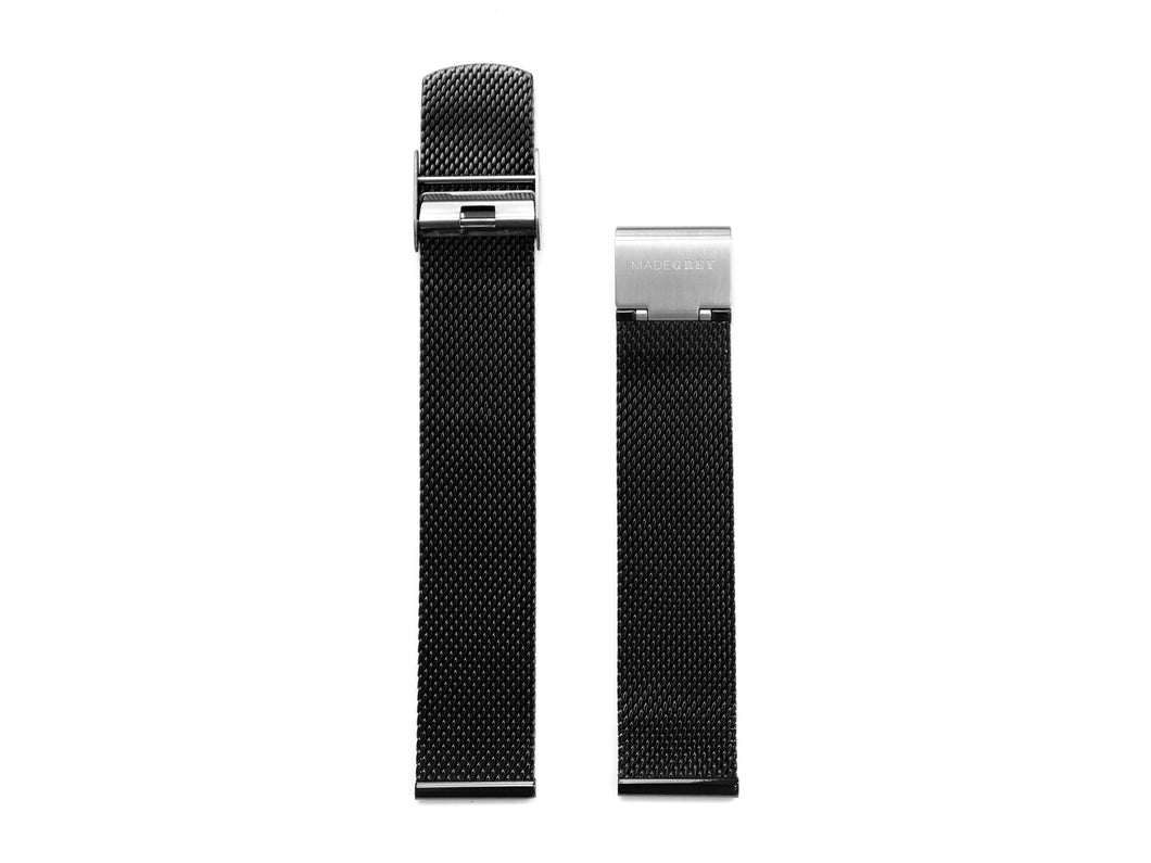 MG003 Max+ Mesh Watch Strap | Black x Grey