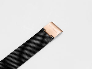 MG003 Max+ Mesh Watch Strap | Black x Rose Gold