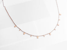 Load image into Gallery viewer, Mini Rectangles Necklace |  Rose Gold