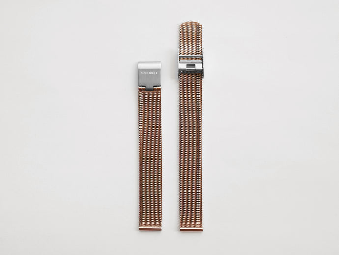 MG003 Mini Steel Mesh Watch Strap | Rose Gold x Silver