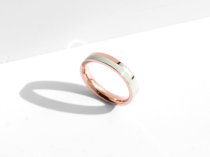 Fusion Ring | Rose Gold x Turquoise
