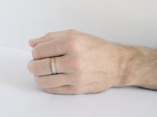 Load image into Gallery viewer, Brushed Two-Tone Ring | Rose Gold