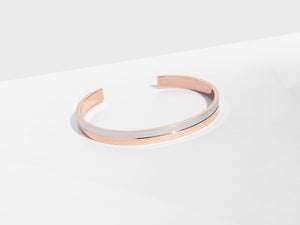 Linear Cuff Bracelet | Rose Gold