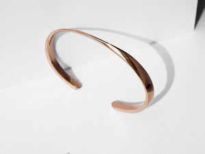Twisted Cuff Bracelet | Rose Gold