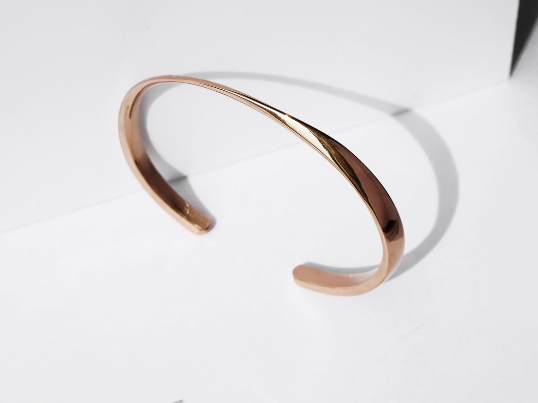 NEW! Twisted Cuff Bracelet | Rose Gold