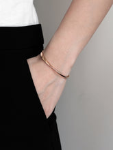 Load image into Gallery viewer, Twisted Cuff Bracelet | Rose Gold