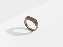 Load image into Gallery viewer, Dual Texture Signet Ring | Bronze