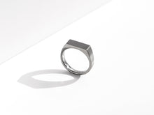 Load image into Gallery viewer, Dual Texture Signet Ring | Grey