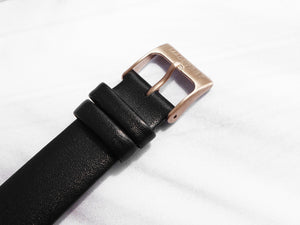 Leather Watch Strap | Black x Rose Gold