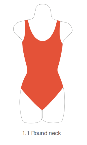 Childrens 1.1 Round Neck Leotard