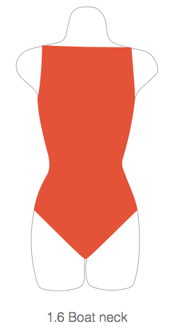 Childrens 1.6 Boat Neck Leotard