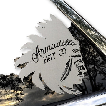 AHC Big Chief Decal - Armadillo Hat Co.