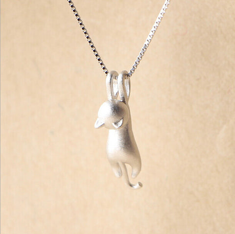 925 sterling silver cat pendant necklace pawpalz 925 sterling silver cat pendant necklace aloadofball Choice Image