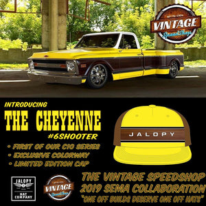 "Jalopy Authentic Vintage Speed Shop ""#6SHOOTER"" Snap back"