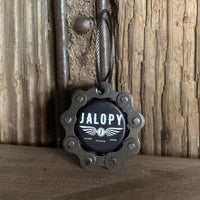 Jalopy Johnson Garage Keychain