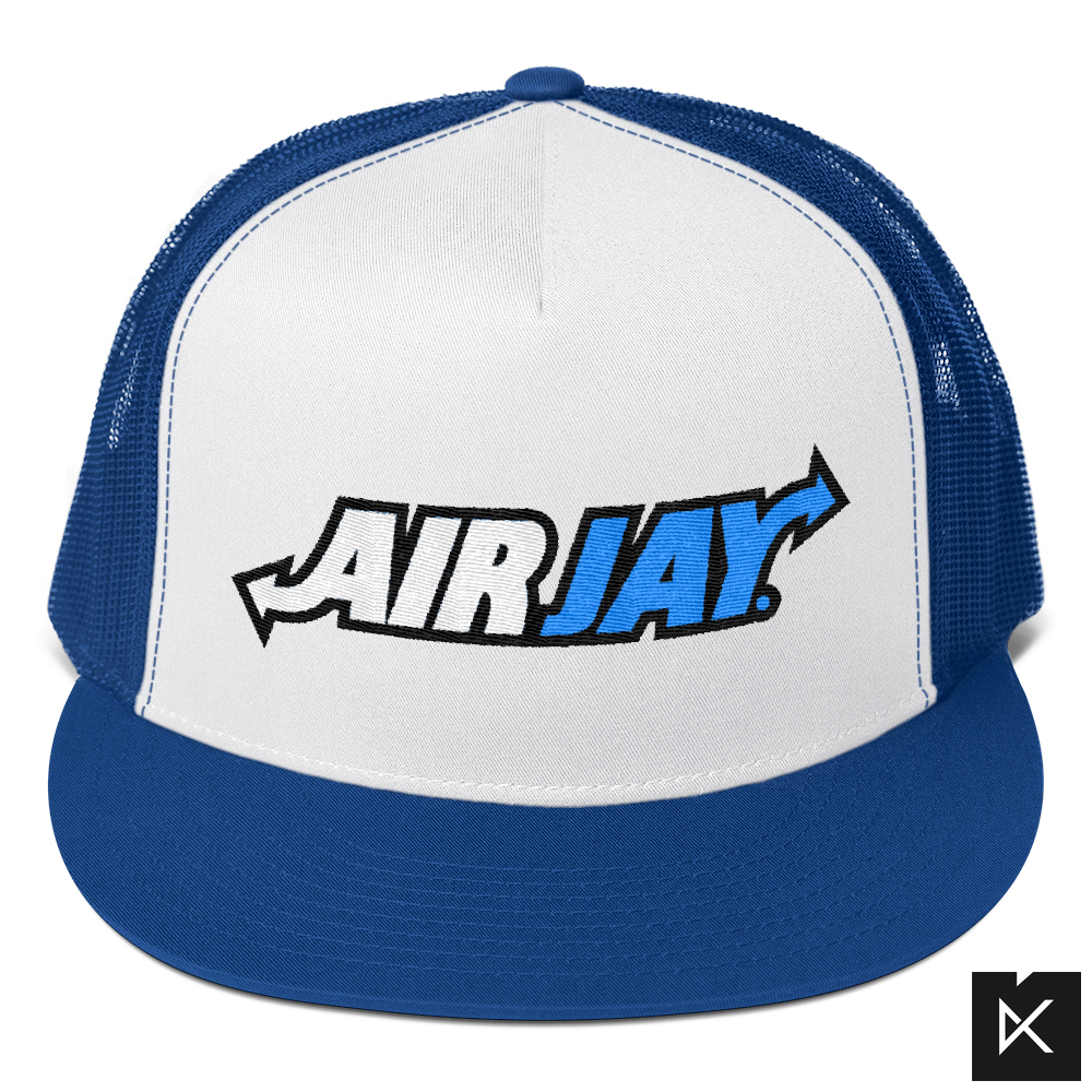 Airjays Blue on Navy Snapback Trucker - Kliqz
