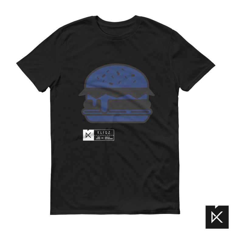 Burger Blue on Black Tee