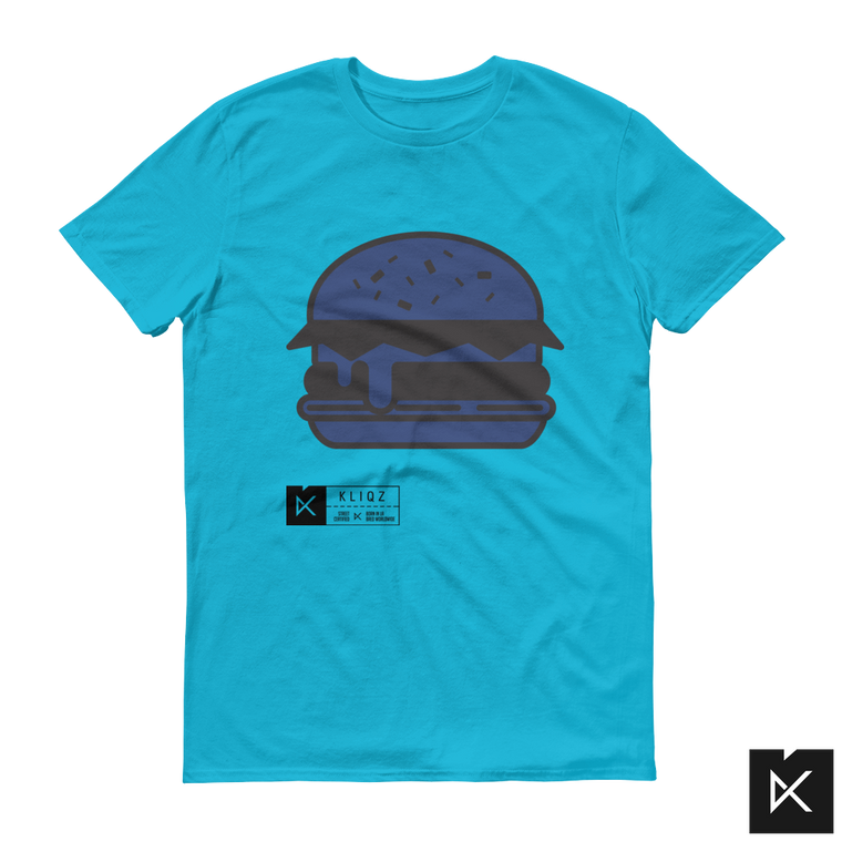 Burger Blue on Blue Tee