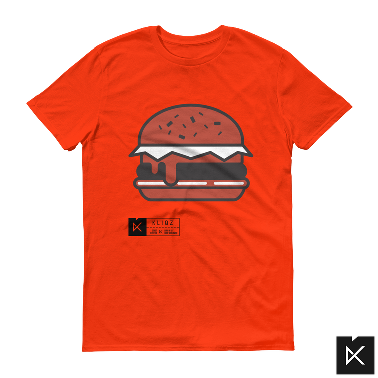 Burger on Orange Tee