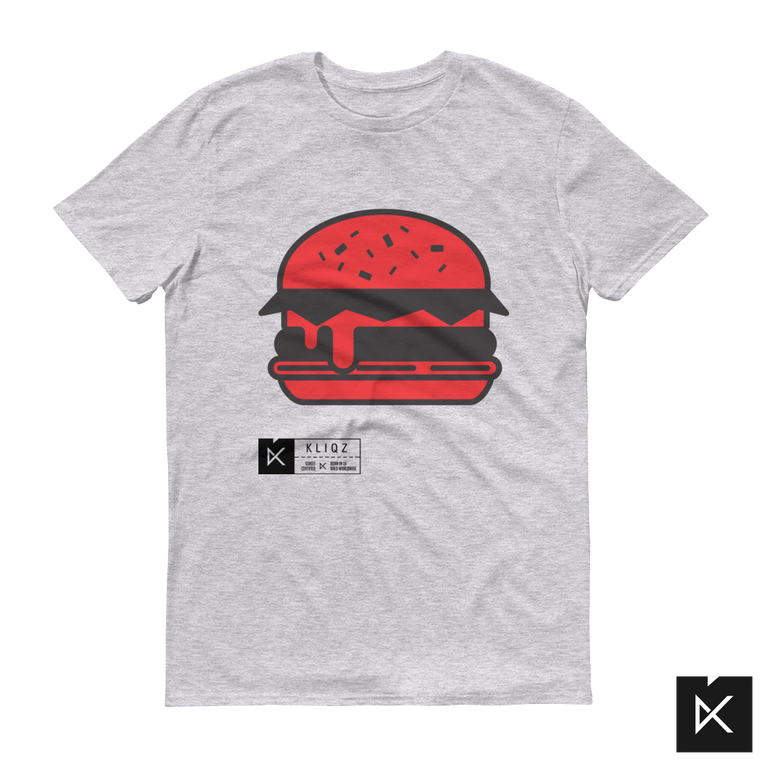 Burger Red on Grey Tee