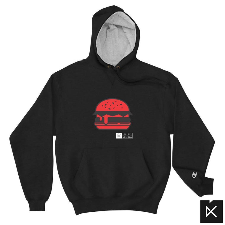 Champion Hoodie Burger red