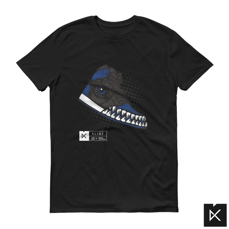 Jay 1 Monster Blue on Black Tee