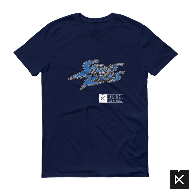 Street Kicks Blue on Navy Tee