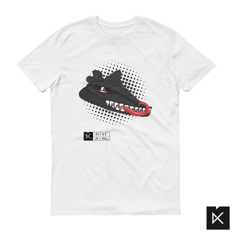 Yeez Monster Black on White Tee
