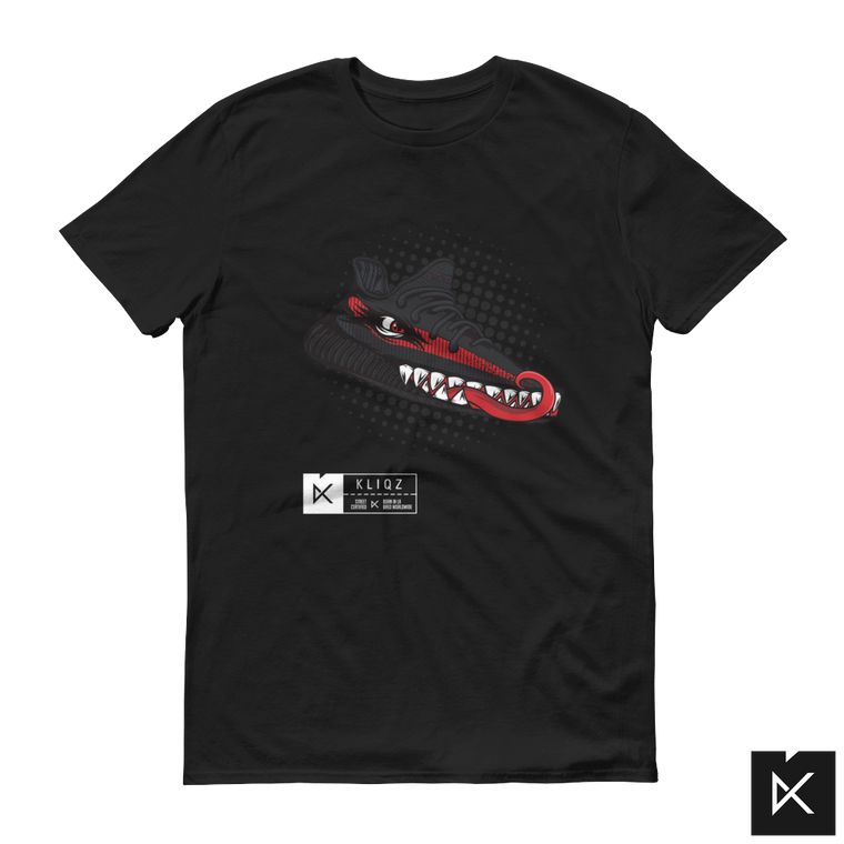 Yeez Monster Black & Red on Black Tee