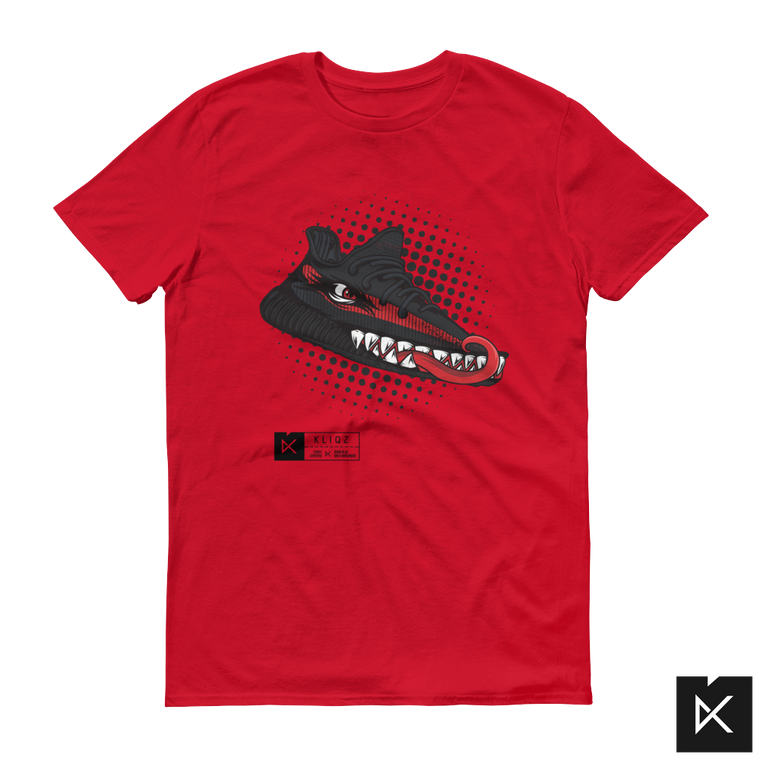 Yeez Monster Black & Red on Red Tee
