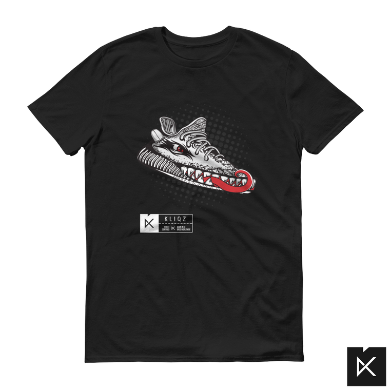 Yeez Monster Zebra on Black Tee