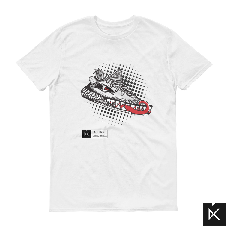 Yeez Monster Zebra on White Tee