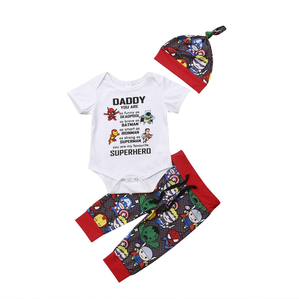 fc38e5443 Daddy's My Superhero 3PC Outfit – Baby Steps Direct