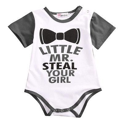 ee11760f919a Little Mr. Steal Your Girl  Onesie – Baby Steps Direct