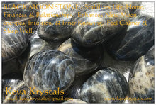 Black Moonstone Pebbles - Madagascar