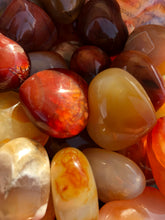 Pocket Size  Carnelian Hearts - Madagascar