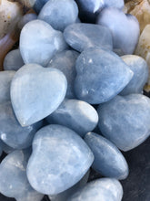 Small Blue Calcite Hearts - Madagascar