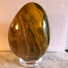 Ocean Jasper Free Standing Sculpture with a Flat Base