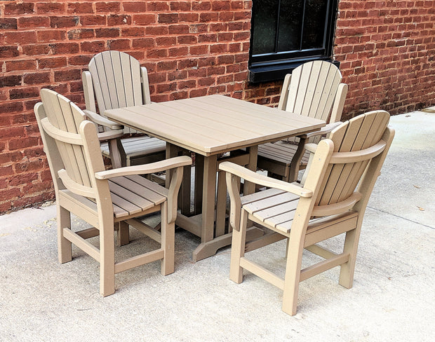 Poly 4 Seat Table Set - Evergreen Patio