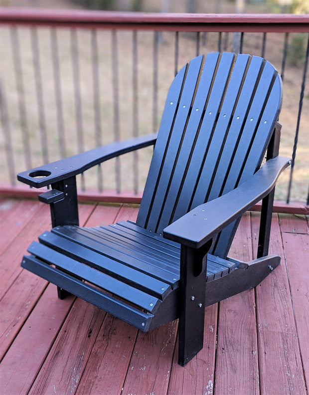 Wide Classic Poly Adirondack Chair - Evergreen Patio