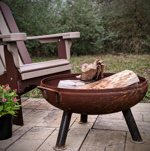 "24 "" Heavy Duty Fire Pit - Evergreen Patio"