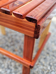 Cedar Side Table - Evergreen Patio